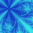 Abstract blue flower — Stock Photo