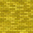 Background yellow A brick wall — Stock Photo