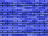 "Background blue ""A brick wall"" — Stock Photo"