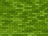 "Background green ""A brick wall"" — Stock Photo"