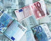 Used euro banknotes — Stock Photo