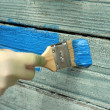 Old house wall painting renovation — Stock Photo