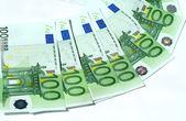 白のユーロ紙幣 — ストック写真