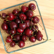 Fresh cherries on a table — Stock Photo