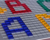 Colorful letters A B C D — Stock Photo