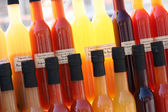 Colored organic vinegar, provence — Stock Photo