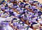 Lavender soap market in provence, france — Stock Photo