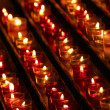 Stock Photo: Candles in darkness