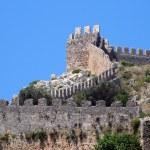 Alanya castle walls — Stock Photo