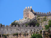 Alanya castle walls — Stock Photo