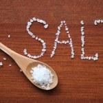 Sea Salt In Wooden Spoon — Stock Photo