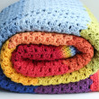Rainbow crocheted blanket — Stock Photo #40203175