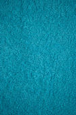 Turquoise bath towel surface texture, close up — Stock Photo
