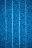 Blue bath towel surface texture, close up — Stock Photo