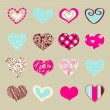 Set of hand drawn hearts for You  — Stock Vector