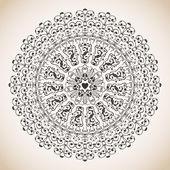 Vintage lace ornament — Stock Vector