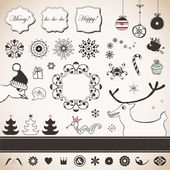 Vintage Christmas set — Stock Vector