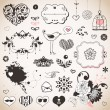 Set of hand drawn elements - Stock Vector