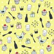 Cute holiday seamless pattern - Stock vektor