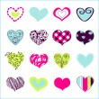 Stock Vector: Set of hand drawn hearts for You
