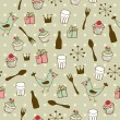 Cute holiday seamless pattern — Imagen vectorial