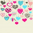 Royalty-Free Stock Vector Image: Colorful background with hearts