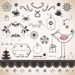 Vintage Christmas set — Stock Vector #21968241