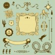 Royalty-Free Stock Vector Image: Nautical set with elements for Your design
