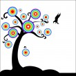 Fantasy tree with bird — Stock Vector
