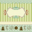 Retro Christmas card - Stock Vector