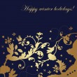 Happy winter holidays - card — Stockvektor