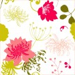 colorful floral pattern — Stock Vector
