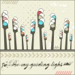 Be my guiding light - card  — Imagen vectorial
