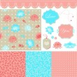 Pastel set - Imagen vectorial