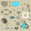 Set of hand drawn elements - Imagen vectorial