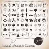 Hand drawn icons set for You — Stockvector