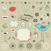 Set of hand drawn elements — Stock Vector
