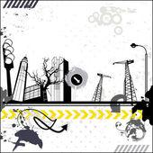 Grunge městské karty — Stock vektor