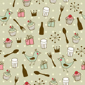Cute holiday seamless pattern — Stock Vector