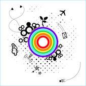 Tarjeta abstracta con planeta desconocido — Vector de stock