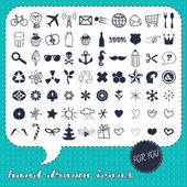 Hand drawn icons set for You — Stock Vector