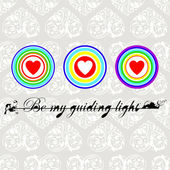 Be my guiding light — Stock Vector