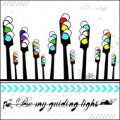 Be my guiding light - card — Stock Vector