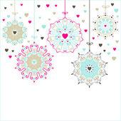 Estrellas decorativas con corazones — Vector de stock