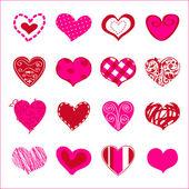 Uppsättning av hand dras hjärtan för dig — Stockvektor