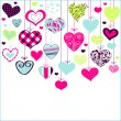 Romantic card with stylized hearts — Stock Vector #21970113