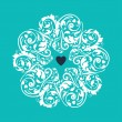 Circle heart ornament — Imagen vectorial