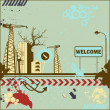 Grunge welcome card — Stock Vector