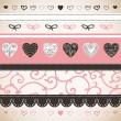 Romantic pattern - Stock Vector