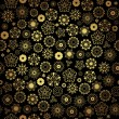 Elegant black golden seamless pattern — 图库矢量图片